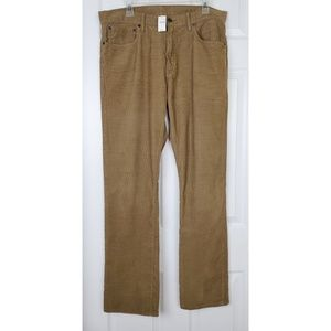 Nwt Gap corduroy straight pants size 34/32